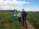 The last technical visit to the project farmers in the areas of Zaragoza and Navarra